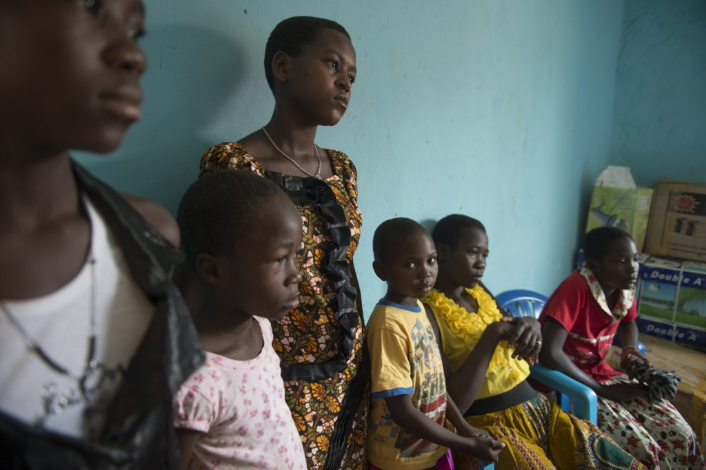 Victoria, 16, Justine, 14, Jacinta, 14, Tamelego, 7, Hellen, 6 and Emmanuel 16 are from South Sadan and being registered as refugees in Dungu Town in Congo. They fled from South Sudan without their parents. Their father is still in South Sudan, Their mother was shot dead in Deember 2015. 'The day that war started, our father was not with us, so we could not know where we can go'.