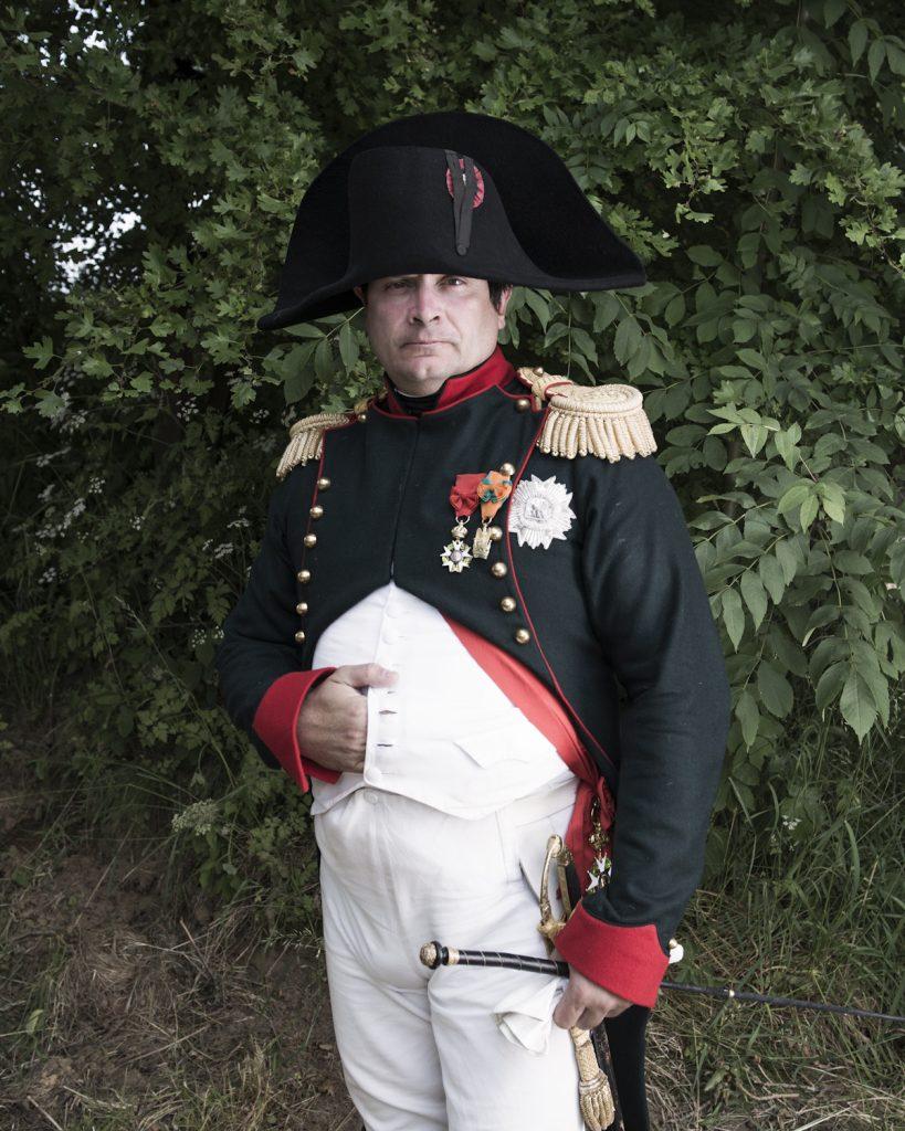 Frank Samson, avocat parisiens incarnant le personnage de Napoléon.Bicentenaire de la bataille de ligny.