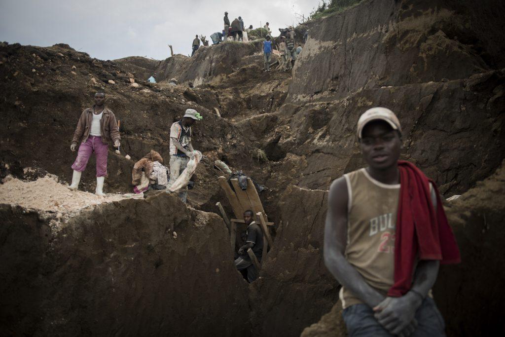 Mine de cassitérite de Rubaya, Masisi, Nord-Kivu.