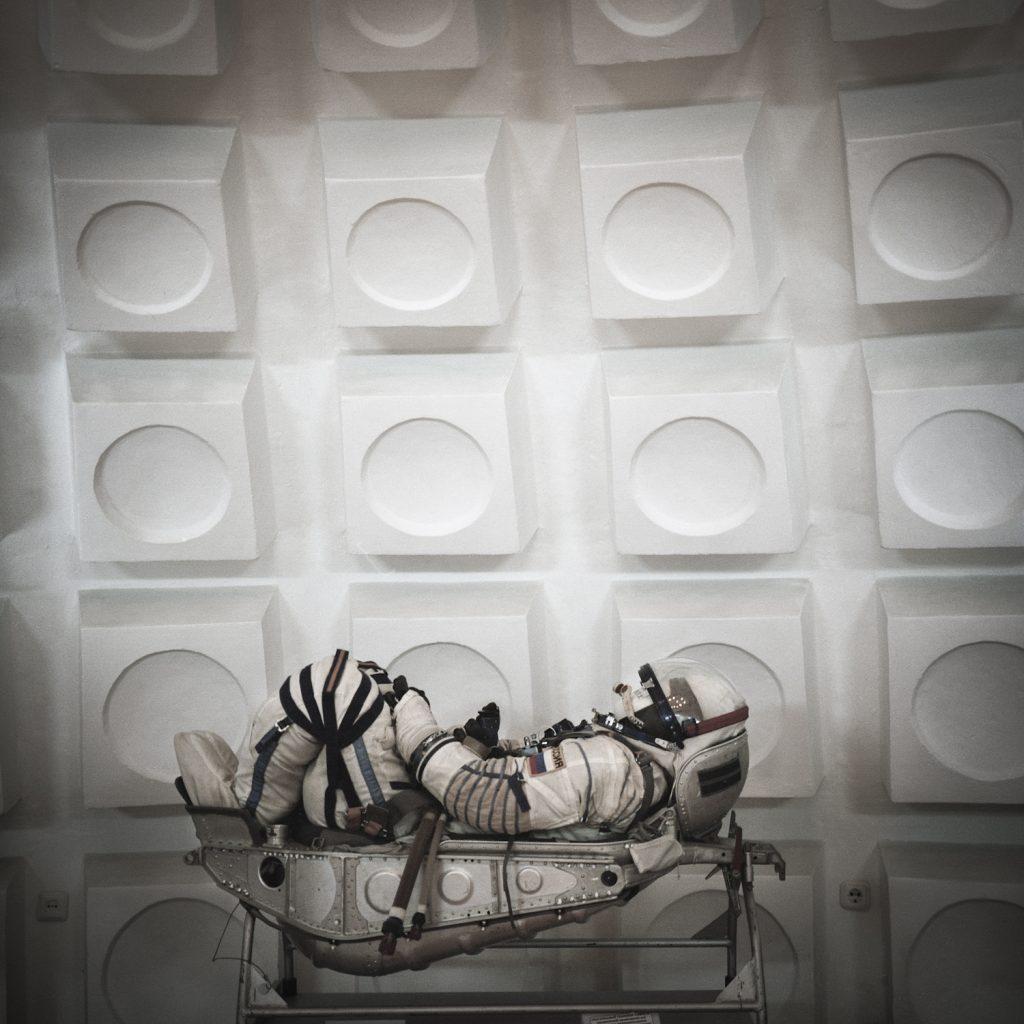 Cosmonaut. Baikonur cosmodrome Museum.